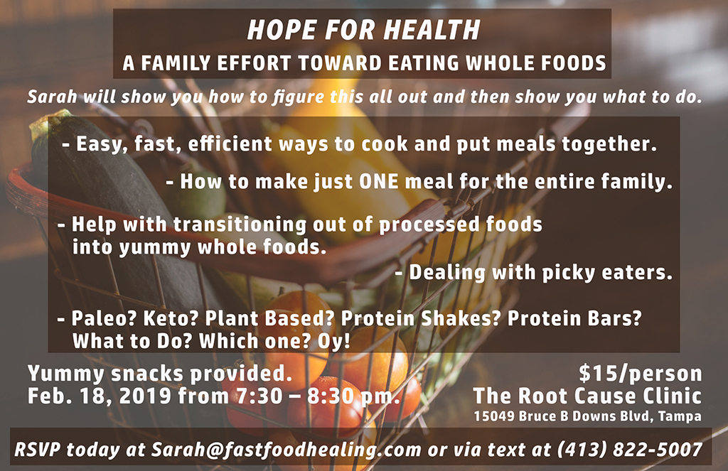 Hope for Health – Getting the Family to select whole foods